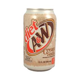 A&W diet creamy soda 355ml